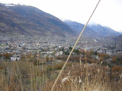 Aosta, veduta.
