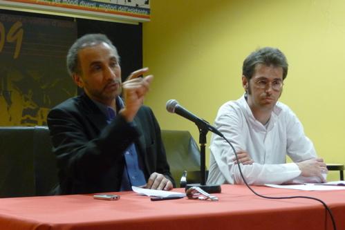 Tariq Ramadan e Alex Glarey (Aosta, espace populaire)