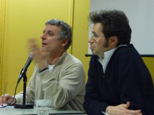 Alessandro Robecchi e Alex Glarey all'espace populaire di Aosta